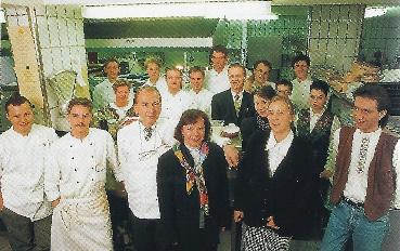"""Albert und Brigitte Bouley mit """"Waldhornteam"""""""