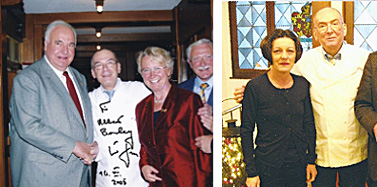 """2005, Helmut Kohl, Bundekanzler und 2012, Herta Maria Müller, Literaturnobelpreisträgerin im """"Waldhorn"""""""